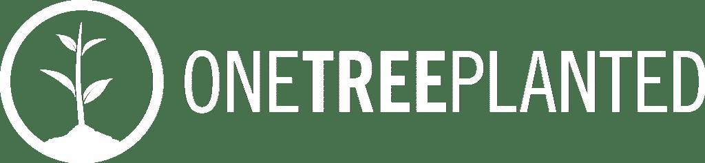 OneTreePlanted Key Logo Long White